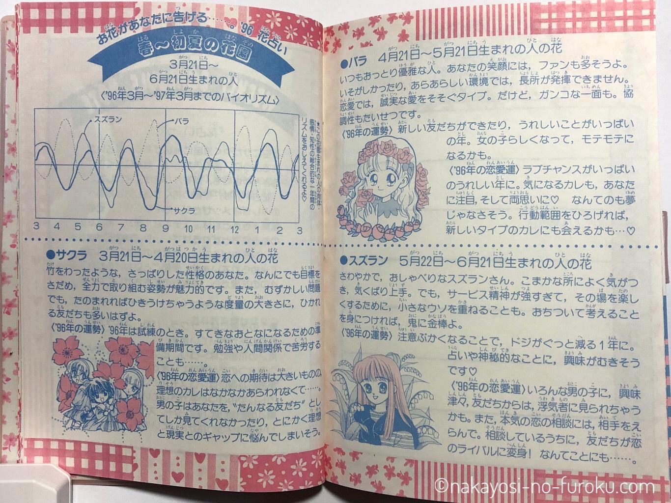 花占いつき'96~'97ウィークリースケジュールノート